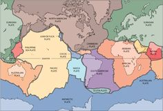 Basic Map of Earth's Tectonic Plates: Basic Plate Map