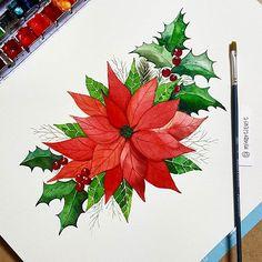 Christmas Wreath Illustration  으쌰으쌰;;; 카드를 사서 보내는 일은 없어야 할텐데;;; • #christmaswreath #watercolors #artworks #xmastree #artworld #artistofinstagram #loveart #christmastree #christmascard #크리스마스 #드로잉 #수채화 #전시 #미술 #일러스트레이션 #그림
