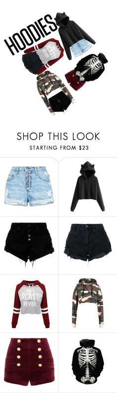 """""""HOODIES !!!!!!!!!!!!!!!!!!!!!!!!!!!!!!!!!!!!!!!!!!!!!!!!!!!!"""" by carry-senpai ❤ liked on Polyvore featuring Nobody Denim, WithChic, Pierre Balmain and Hoodies"""