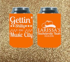 Throwing a bachelorette in Nashville? We've got you covered with our awesome customized koozies!    Customized   Gettin' Shitty In Music City  by StripedPeanut