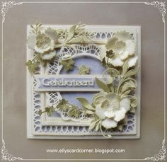 Elly´s Card- Corner beautiful card but no description of products used Flower Cards, Paper Flowers, Heartfelt Creations, I Card, Flower Power, Decorative Boxes, Crafty, Corner, Handmade Cards