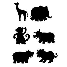 free animal stencils | Educational Colours Jungle Animal Stencil Set Artworx Geelong