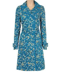 Look what I found on #zulily! Bluehaven Floral Cotto Trench Coat #zulilyfinds