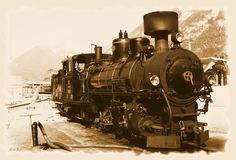 Dampflok der Zillertalbahn, Eisenbahn, sepia, Dampfzug,Zillertal,Tirol, 'Dampfross' von hako bei artflakes.com als Poster oder Kunstdruck $16.63, (c) HaKo - Photo