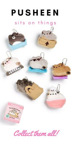 Pusheen loves to sit on strange things. And what cat doesn't? Whether its the bed, the keyboard, or a random cardboard box, there is a Pusheen for every sitting cat-type. Collect them all--blind box $10.00 each. #affiliatelink #kawaii #pusheen (scheduled via http://www.tailwindapp.com?utm_source=pinterest&utm_medium=twpin)