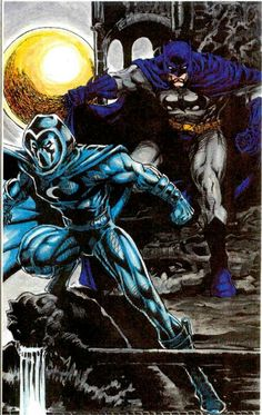 Batman and Moon Knight by Peter Temple