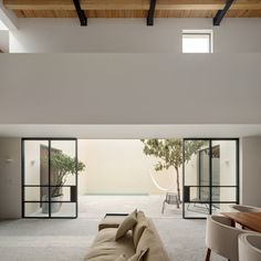 Muted Tones Mingle With Light and Shadows to Form a Quiet Mexican Oasis #modernhome #mexico #hometour
