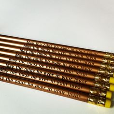 Custom laser engraved pencils