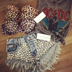 want these studded shorts and bra tops