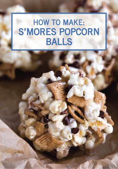 This recipe for S'mores Popcorn Balls takes your family's favorite summer flavor combination and gives it a fun twist! You simply can't go wrong with marshmallow, graham cracker, and chocolate for dessert.