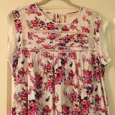 Anthropologie nellore top. Beautiful flower top. Very delicate Anthropologie Tops Blouses