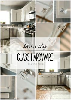 Kitchen Bling: Glass Hardware Installation - It All Started With Paint