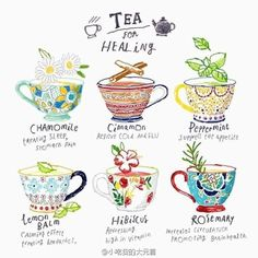 Afternoon Tea, Tee Kunst, Tips & Tricks, Tea Art, My Cup Of Tea, Book Of Shadows, Food Illustrations, Tea Recipes, Herbal Remedies
