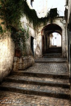 A street in the Casbah, the historic center of Alger, Algeria