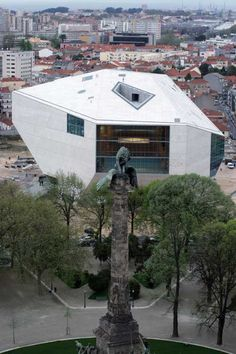 "Casa da Musica, Porto, Portugal / ""House of music"", Porto, Portugal. Arch.:Rem Koolhaas"