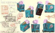 Ice cream car by Fleewortep