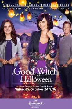 Catherine Bell, James Denton and Bailey Madison. Good Witch Halloween, Halloween News, Halloween Movies, Scary Movies, Spirit Halloween, Good Movies, Halloween Art, Amazing Movies, Halloween Tricks
