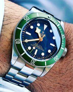 Tudor with Super Oyster Stainless Steel Watch Bracelet from strapcode arabwatchclub arabwat Luxury Watches, Cool Watches, Rolex Watches, Watches For Men, Tudor Heritage Black Bay, Tudor Black Bay, Tudor Watch Men, Tudor Bronze, Sport Watches