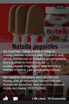 Nutella popcicles