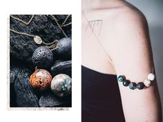 Etsy の PLANETS necklace by marmod8