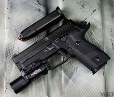 sig sauer inc Dark Elite Weapons Guns, Guns And Ammo, Sig P229, The Dark Side, Tactical Shotgun, Airsoft Gear, Shooting Guns, Sig Sauer, Military Guns