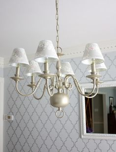 Br Chandelier Makeover Using Brushed Nickel Spray Paint