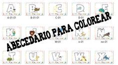Colorea las letras del abecedario - Escuela en la Nube
