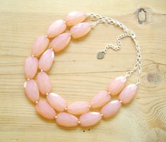 Peach Coral statement necklace Coral by ThatsmineBoutique on Etsy, $40.00