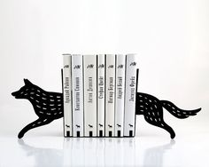 Bookends - Wolf - laser cut for precision these metal bookends will hold your favorite books. €39.00, via Etsy.