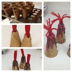 """""""Volcano"""" cupcakes in a sugar cone by Shelley"""