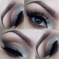 Soft smokey cat eye.