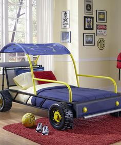 Take a look at this Dune Buggy Car Twin Bed by Powell Company on #zulily today!