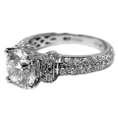 AMAZING. Engagement Ring - Vintage Style Round Diamond Engagement Ring 1.17 tcw. - ES440