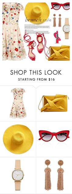 """""""Mother's Day Brunch Goals"""" by unamiradaatuarmario ❤ liked on Polyvore featuring Alice + Olivia, N°21, Dolce&Gabbana, Skagen, Humble Chic, Avon and brunchgoals"""