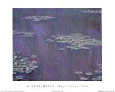 Water Lilies, c.1905 Art Print by Claude Monet at Art.com