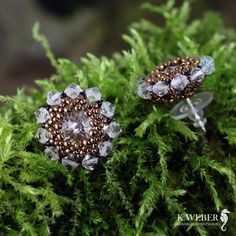 drobne,eleganckie,urocze,krysztalowe,zlote, - Kolczyki - Biżuteria w ArsNeo