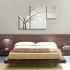 Love this artwork for the formal living room! Gorgeous triptych idea