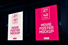 Free Movie Poster Mockup