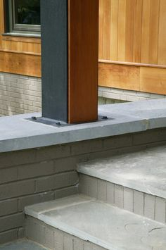 steel column w/ doug fir infill. Repinned by Secret Design Studio, Melbourne. www.secretdesignstudio.com