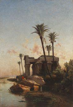 Carlos de Haes, Paisaje egipcio, 1883