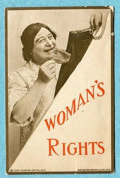 B8887 Women's Rights Postcard Suffrage She Takes Money from Hubby's Pocket | eBay