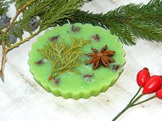 Christmas soap Christmas gift Vegan soap Natural soap holiday soap Christmas favors stocking stuffer Organic soap Homemade soap guest soap Christmas party decor Woodland Xmas soap