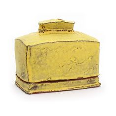 Yellow butter dish. Sunshine Cobb
