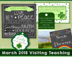 March 2015 LDS Visiting Teaching Message and Handouts, INSTANT DOWNLOAD, Jesus Christ, Long-Suffering and Patient