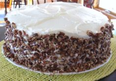 Pecan Spice Layer Cake With Cream Cheese Frosting Recipes ...