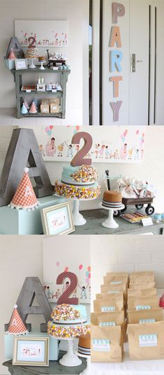 Whimsical vintage party with muted colors and simple yet so sweet!  Love this look for birthday, shower, and all kinds of parties!