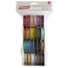 <div>Make your scrapbooks and other crafts stand out and shine with adhesive satiny ribbon. This...