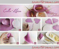 Calla Lily gumpaste tutorial