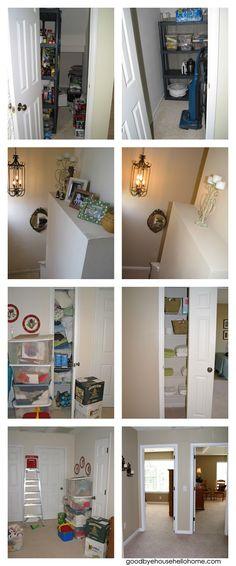 goodbye, house. Hello, Home! Homemaking, Interior Design Blog, Staging, DIY: 31 Days to a Staged Home :: Day 28, Hallway, Hallway Closet & Stairway