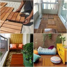 Create a nice relaxing spot by upgrading your balcony! These 24 stylish apartment balcony ideas will transform your house into resort-worthy residence. Small Balcony Decor, Balcony Deck, Balcony Gardening, Balcony Railing, Balcony Furniture, Concrete Furniture, Apartment Balcony Decorating, Apartment Balconies, Apartment Ideas